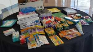 SGMP Louisiana Chapter members brought school supplies to donate.